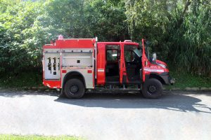 carrocería carro de bomberos.