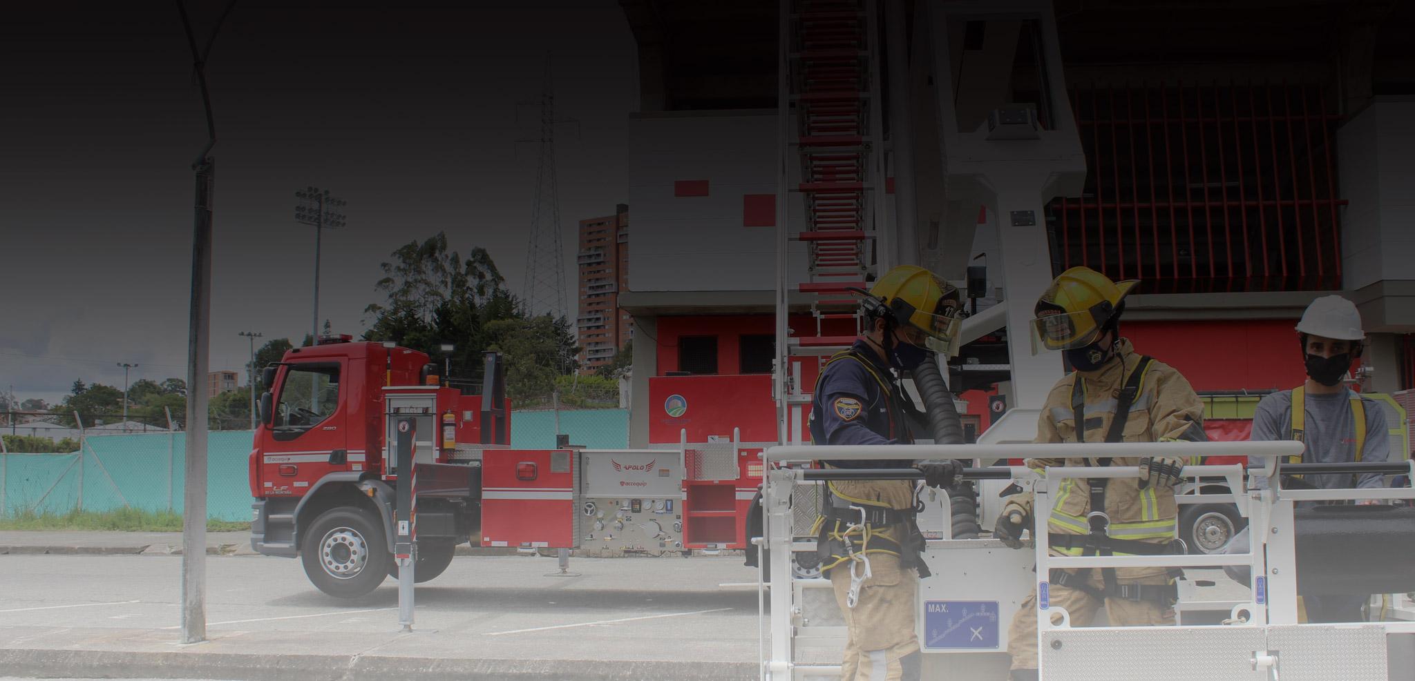 Carro de bomberos escalera