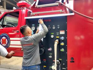 mantenimiento carros de bomberos